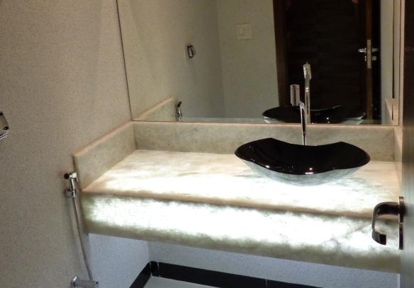 Lavabo em Marmore Onix Branco